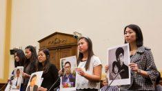 e36c28fbf38 Cinco chinesas pedem a libertação de seus pais