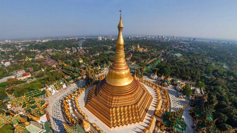 Pagode Shwedagon, lugar que nasceu de um fio de cabelo do Buda ...