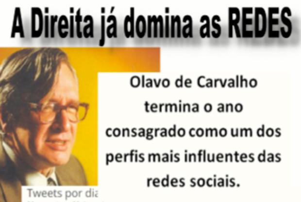Oposição em franco crescimento: Olavo de Carvalho termina o ano como um dos tops no Twitter