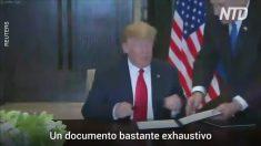 Trump e Kim assinam três importantes documentos durante cúpula histórica (Vídeo)