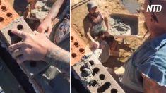 Pedreiros fazem da construção um espetáculo de malabarismo – você vai se impressionar, UAU!