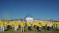 Camberra, Austrália: praticantes realizam manifestação para acabar com perseguição ao Falun Gong