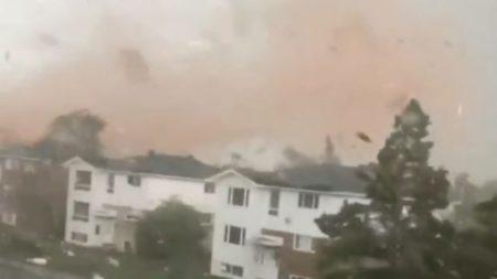 Imagens chocantes do tornado que varreu o Canadá