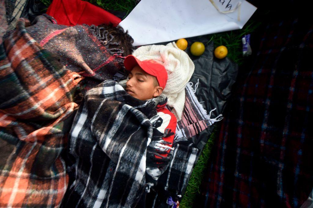 Caravana de migrantes em 7 de novembro de 2018 na Cidade do México (Alfredo Estrella/AFP/Getty Images)