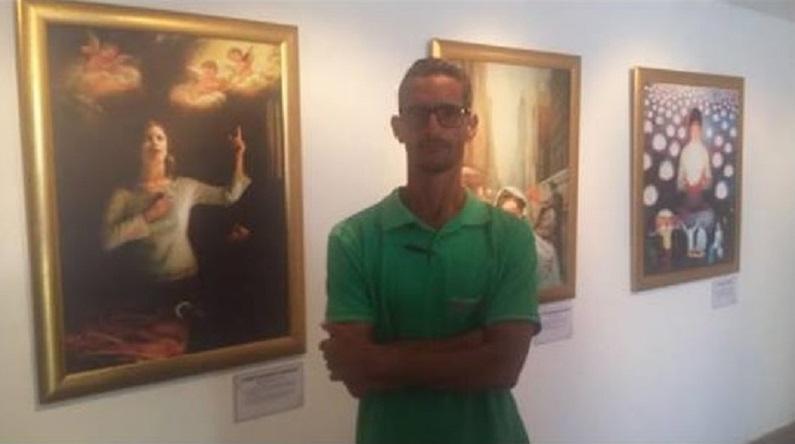"""O empresário Paulo Roberto de Andrade visita a Exposição Internacional """"A Arte de Zhen Shan Ren"""" (Verdade, Compaixão, Tolerância) na Bahia, em dezembro de 2018 (Miguel Campos)"""