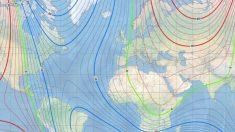 Polo norte magnético da terra está se movendo em direção à Rússia