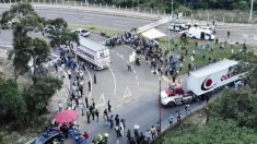 Venezuelanos comemoram chegada da ajuda humanitária nos dois lados da fronteira de Cúcuta (Vídeo)