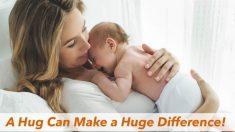 Quanto mais você abraça seus filhos mais inteligentes eles se tornam, revela estudo