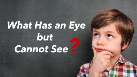 Hora do enigma: o que tem um olho, mas não consegue ver? Este vai alfinetar seu cérebro