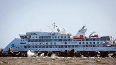 Navio australiano afetado com COVID-19 deixa o Uruguai e parte para a Espanha