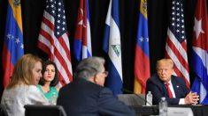 Refugiados venezuelanos e cubanos pedem a Trump ajuda para libertar seus países do comunismo