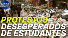 Protestos desesperados de estudantes