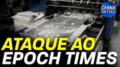 A gráfica do Epoch Times em Hong Kong foi atacada domingo