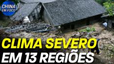 Tempestades, granizo e ventanias estão afetando 13 províncias chinesas