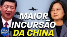 A Força Aérea da China está patrulhando Taiwan novamente