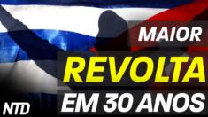 Cubanos protestaram contra o regime comunista no final de semana