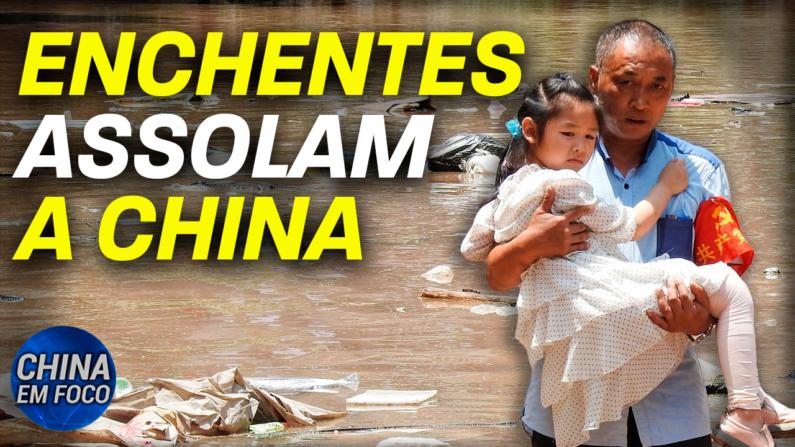 Moradores locais dizem que as autoridades de uma cidade chinesa liberaram as águas de reservatórios próximos sem aviso.