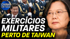 China realiza exercício militar perto de Taiwan