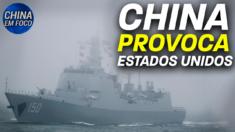 Navios de guerra chineses entram em zona americana