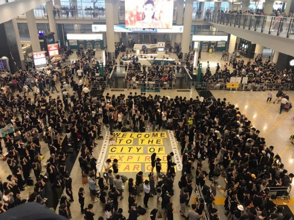 Hong Kong airport protest