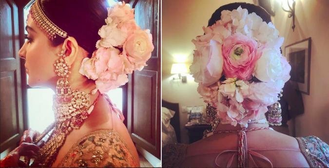 Gabriel Georgiou aprontou um maravilhoso penteado para a mais nova noiva de Bollywood, Anushka Sharma, em seu casamento (Imagem cortesia de Gabriel Georgiou)