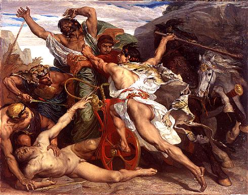 """""""O Assassinato de Laio por Édipo"""", 1867, por Joseph Blanc (VladoubidoOo / CC BY-SA 3.0)"""