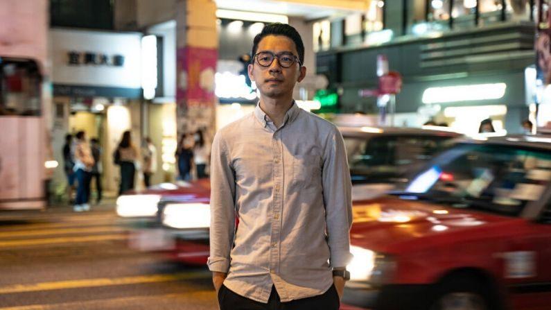 Ativista pró-democracia Nathan Law durante uma conferência de imprensa em 19 de junho de 2020 em Hong Kong, China (Anthony Kwan / Getty Images)