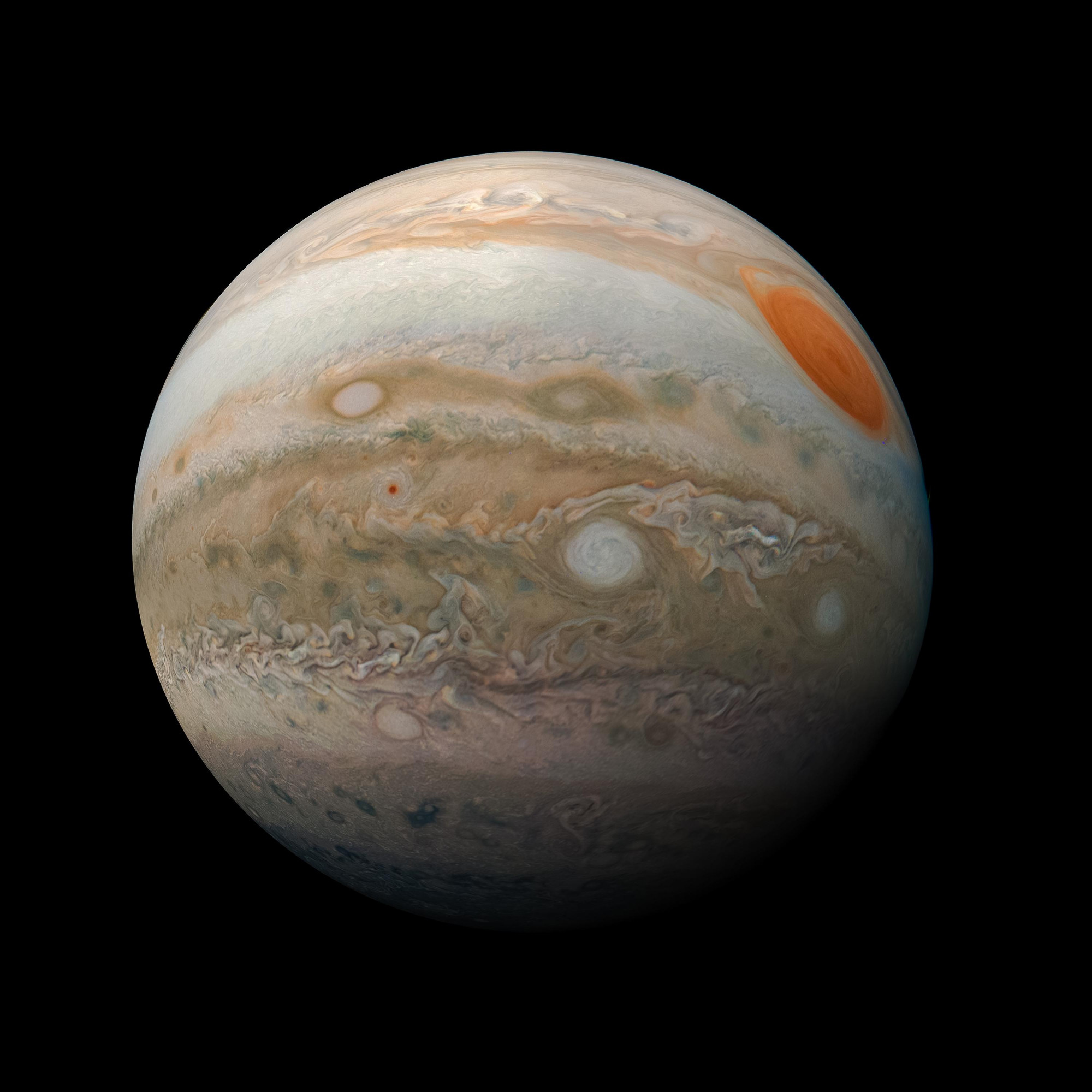 Júpiter (NASA / JPL-Caltech / SwRI / MSSS / Kevin M. Gill)